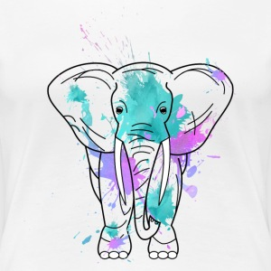 Elefant-aquarell T-Shirts - Frauen Premium T-Shirt