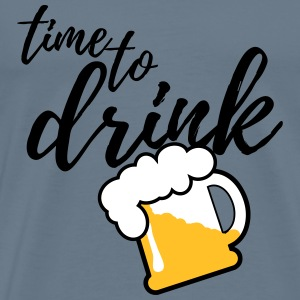 Time to Drink Beer 3c T-Shirts - Männer Premium T-Shirt