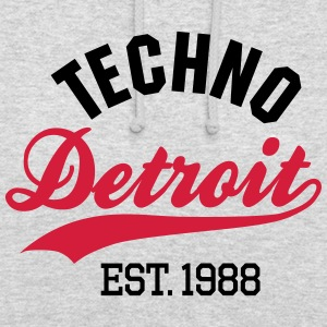 Techno Detroit est.1988 Sweat-shirts - Sweat-shirt à capuche unisexe