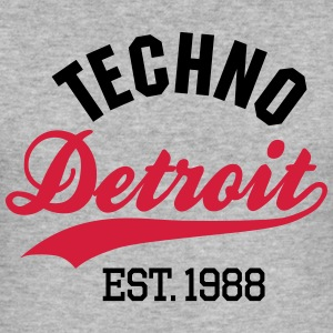 Techno Detroit est.1988 T-Shirts - Männer Slim Fit T-Shirt