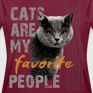 cats favorite people T-Shirts - Frauen Oversize T-Shirt