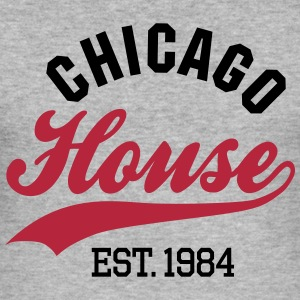 Chicago house est. 1984 T-shirts - Slim Fit T-shirt herr