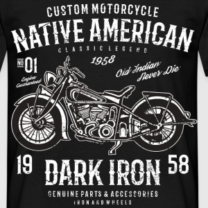 Vintage Motorcycle Dark Iron - Männer T-Shirt