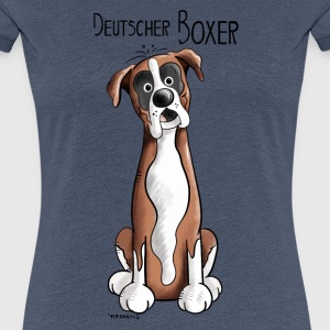 Happy Deutscher Boxer T-Shirts - Frauen Premium T-Shirt