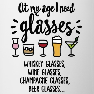At my age I need glasses FC Mugs & Drinkware - Mug