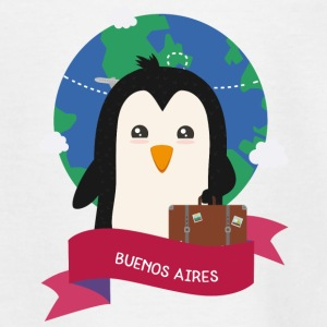 Penguin Globetrotter from BUENOS AIRES Skg1es Shirts - Teenage T-shirt