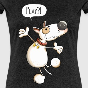 Bullterrier Play T-Shirts - Frauen Premium T-Shirt