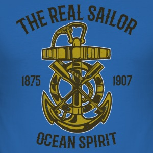 The Real Sailor T-Shirts - Männer Slim Fit T-Shirt