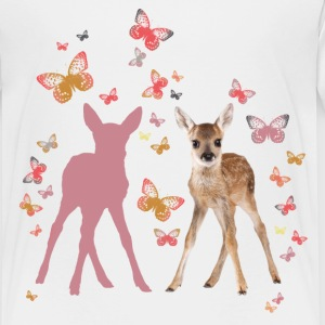 Animal Planet Fawn And Butterflies - Kids' Premium T-Shirt