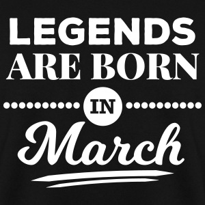 legends are born in march März Geburtstag Spruch Pullover & Hoodies - Männer Pullover