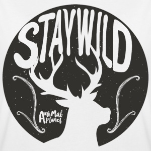 Animal Planet Stag Stay Wild Quote - Naisten oversized-t-paita