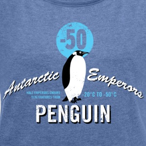 Animal Planet Emperor Penguin Facts - Dame T-shirt med rulleærmer