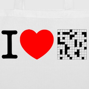 I love puzzles - crossword puzzle Bags & Backpacks - Tote Bag