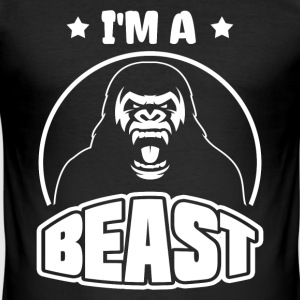Monster - I am a Beast T-shirts - Herre Slim Fit T-Shirt