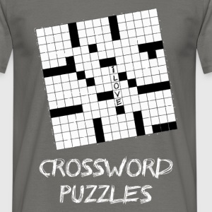 Crossword puzzles - I love Crossword puzzles - Men's T-Shirt