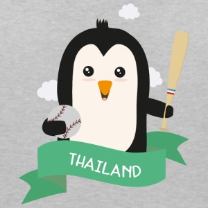 Baseball Penguin from THAILAND S1y4r7 T-Shirts - Women's Organic V-Neck T-Shirt by Stanley & Stella