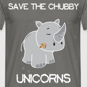 Unicorn - Save the chubby unicorns - Men's T-Shirt