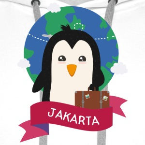 Penguin Globetrotter from JAKARTA S6ryke Hoodies & Sweatshirts - Men's Premium Hoodie