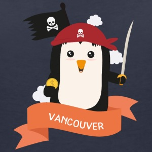 Pirate Pinguin from VANCOUVER S3kkl7 T-Shirts - Women's Organic V-Neck T-Shirt by Stanley & Stella