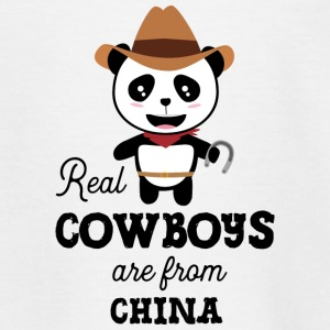 Real Cowboys are from China Sadgz0 Shirts - Teenage T-shirt