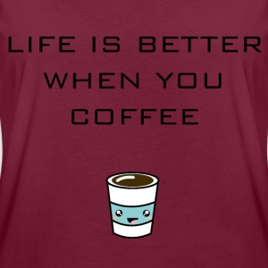 Coffee Junkie T-Shirts - Frauen Oversize T-Shirt