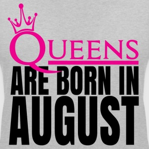 QUEENS ARE BORN IN AUGUST T-Shirts - Women's Organic V-Neck T-Shirt by Stanley & Stella