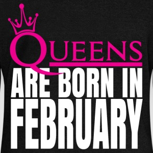 QUEENS ARE BORN IN FEBRUARY Hoodies & Sweatshirts - Women's Boat Neck Long Sleeve Top