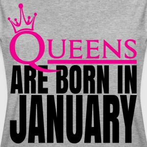 QUEENS ARE BORN IN JANUARY T-Shirts - Women's Oversize T-Shirt