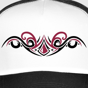 Filigree Tribal with gemstone, modern style Caps & Hats - Trucker Cap
