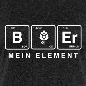 BIER - MEIN ELEMENT B/W T-Shirts - Frauen Premium T-Shirt