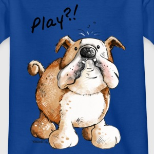 Englische Bulldogge Play - Hund - Hunde - Doggy    T-Shirts - Teenager T-Shirt