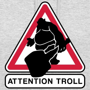 Attention troll Sweat-shirts - Sweat-shirt à capuche unisexe