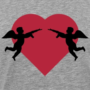 Angels against heart with rifle T-Shirts - Men's Premium T-Shirt