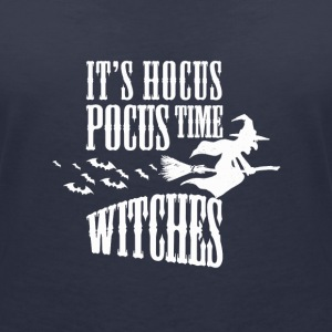 Its Hocus Pocus Time Witches Women Men Halloween T-skjorter - Økologisk T-skjorte med V-hals for kvinner fra Stanley & Stella