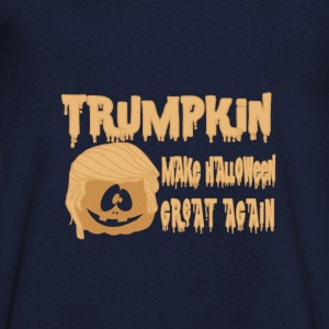 Happy Trumpkin Make Halloween Great Again T-Shirts - Men's Organic V-Neck T-Shirt by Stanley & Stella