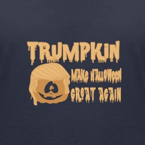 Happy Trumpkin Make Halloween Great Again T-Shirts - Women's Organic V-Neck T-Shirt by Stanley & Stella