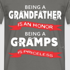 Gramps - Being a Grandfather is an honor. Being a  - Men's T-Shirt