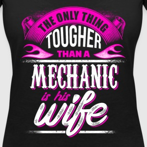Mechanic  Wife - EN T-Shirts - Women's Organic V-Neck T-Shirt by Stanley & Stella