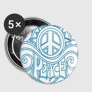 '60's hippie peace Buttons - Buttons klein 25 mm