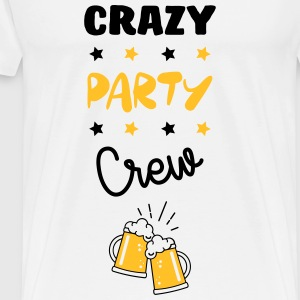 Crazy Party Crew - Alcohol - Alcool - Bier - Bière T-shirts - Herre premium T-shirt