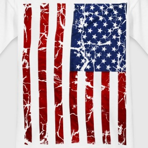 US flag vintage stars and stripes white shirt T-Shirts - Teenager T-Shirt