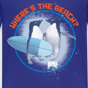 Animal Planet Surfing Penguins Quote - Kids' Premium T-Shirt