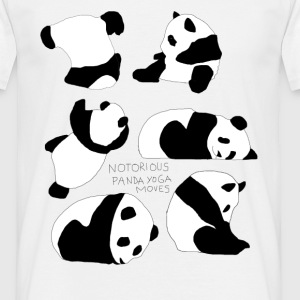Panda Yoga Moves - Männer T-Shirt