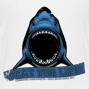 Meat for life - Shark Hai Jaws - Vintage Premium G - Kinder Premium T-Shirt