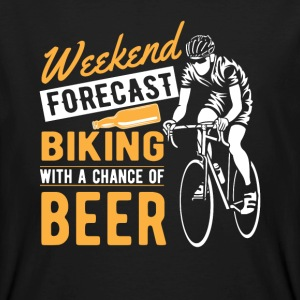 Weekend forecast biking with a chance of beer Tee shirts - T-shirt bio Homme