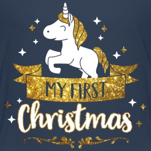 My first Christmas - mean first Christmas-Baby Shirts - Teenage Premium T-Shirt