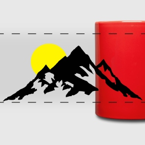Mountain and Sunrise, Mountains Mugs & Drinkware - Full Color Panoramic Mug