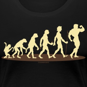 FUN - Evolution Bodybuilder Gym - Geschenk - Bestseller T-Shirts - Frauen Premium T-Shirt