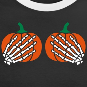 Pumkins skeleton hands boobs T-Shirts - Women's Ringer T-Shirt