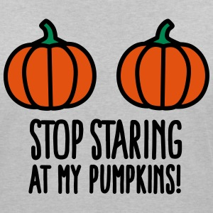 Stop staring at my pumpkins - Halloween boobs Tee shirts - T-shirt bio col en V Stanley & Stella Femme